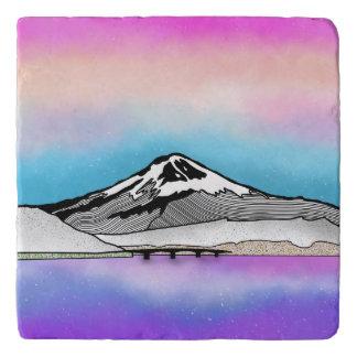 Mt Fuji Japan Landscape illustration Trivet