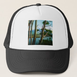 Mt. Fuji Through the Morning Woods Vintage Japan Trucker Hat