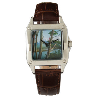 Mt. Fuji Through the Morning Woods Vintage Japan Watch