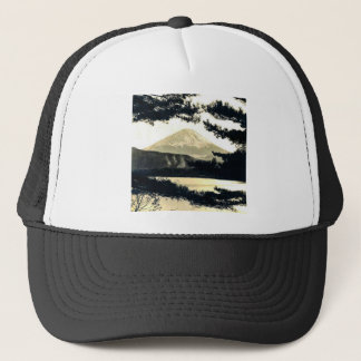 Mt. Fuji Through the Pines Vintage 富士山  Japanese Trucker Hat