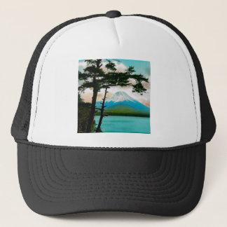 Mt. Fuji Through the Pines Vintage Japanese  富士山 Trucker Hat