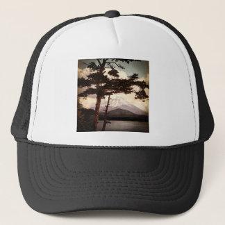 Mt. Fuji Through the Pines Vintage Old Japan Trucker Hat