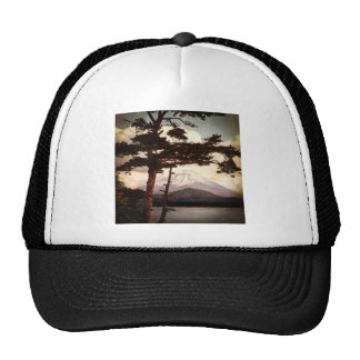 Mt. Fuji Through the Pines Vintage Old Japan Trucker Hat