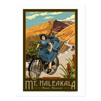 Mt. Haleakala Bicycle Rides Hawaii Postcard