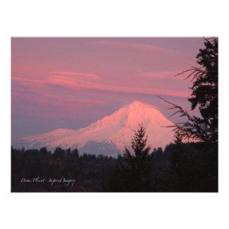 Mt.. Hood January Sunset Photo Print