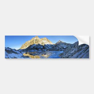 Mt Izaak Walton Over Bighorn Lake Sunrise - Sierra Bumper Sticker