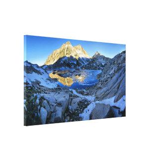 Mt Izaak Walton Over Bighorn Lake Sunrise - Sierra Canvas Print