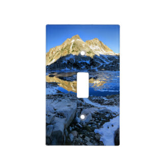 Mt Izaak Walton Over Bighorn Lake Sunrise - Sierra Light Switch Cover