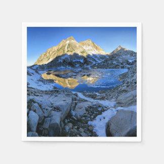 Mt Izaak Walton Over Bighorn Lake Sunrise - Sierra Paper Napkins