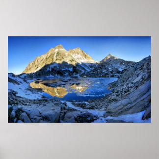 Mt Izaak Walton Over Bighorn Lake Sunrise - Sierra Poster