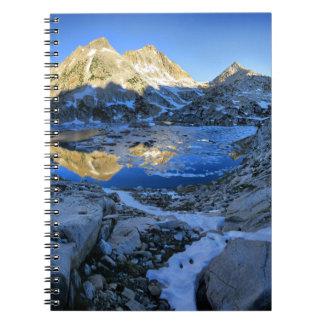 Mt Izaak Walton Over Bighorn Lake Sunrise - Sierra Spiral Notebook