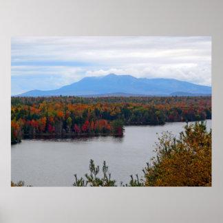 Mt. Katahdin In Fall Poster