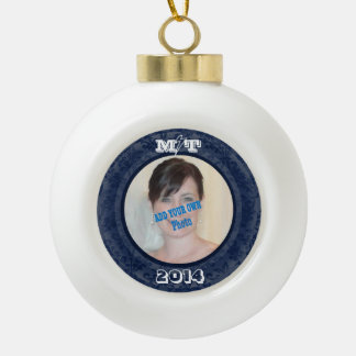 MT Keepsake Ornament! Your Photo! Ceramic Ball Christmas Ornament
