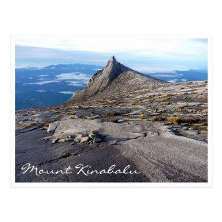 mt kinabalu nature postcard