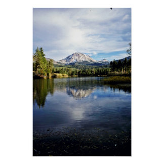 Mt. Lassen From Manzanita Lake Poster