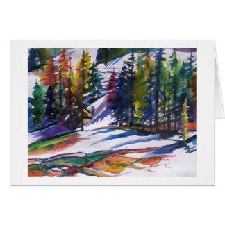 """Mt Lassen Snow ""  in watercolor by Card"
