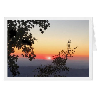 Mt. Lemmon Sunset Greeting Card
