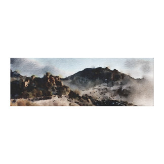 Mt. Lemmon - Watercolor Canvas Print