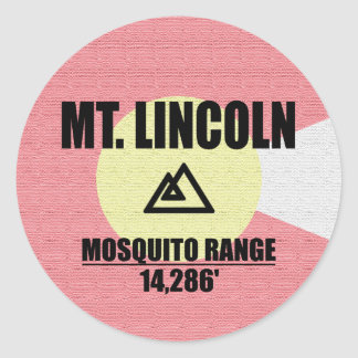 Mt. Lincoln Classic Round Sticker
