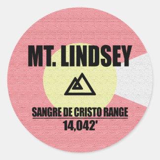 Mt. Lindsey Classic Round Sticker