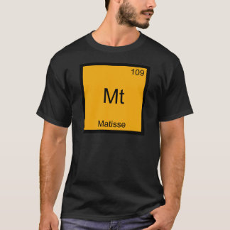 Mt - Matisse Funny Chemistry Element Symbol Tee
