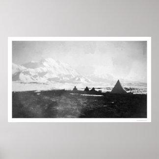 Mt. McKinley Alaska Camp 1912 Poster