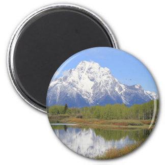Mt. Moran Grand Teton National Park 2 Inch Round Magnet