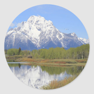 Mt. Moran Grand Teton National Park Classic Round Sticker
