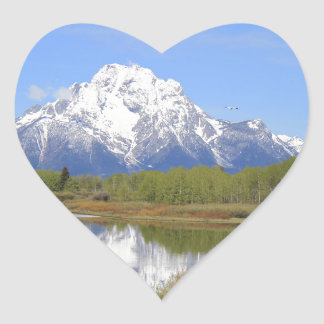 Mt. Moran Grand Teton National Park Heart Sticker