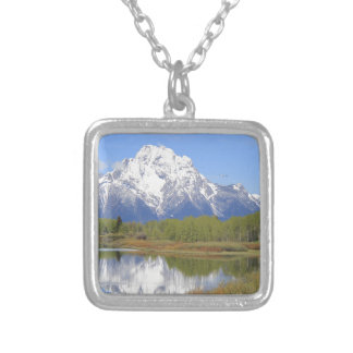 Mt. Moran Grand Teton National Park Silver Plated Necklace