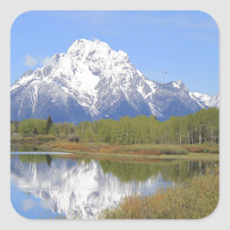 Mt. Moran Grand Teton National Park Square Sticker
