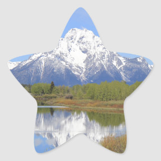 Mt. Moran Grand Teton National Park Star Sticker