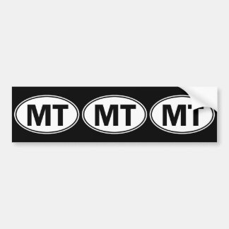 MT Oval Identity Sign Bumper Sticker