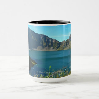 Mt. Pinatubo Crater, Black 15 oz Combo Mug