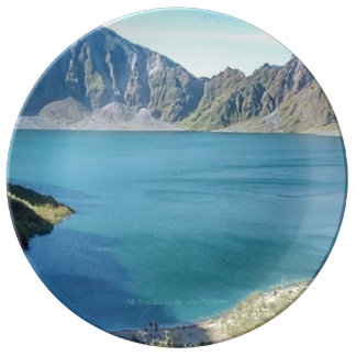 Mt. Pinatubo Crater Lake, Phl., Porcelain Plate