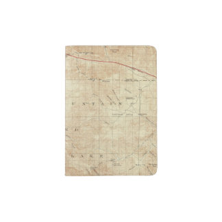Mt Pinos quadrangle showing San Andreas Rift Passport Holder