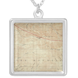 Mt Pinos quadrangle showing San Andreas Rift Silver Plated Necklace