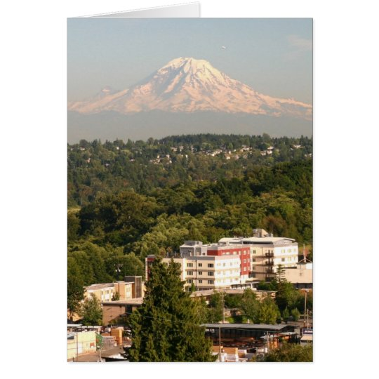 Mt. Rainer in Seattle Card