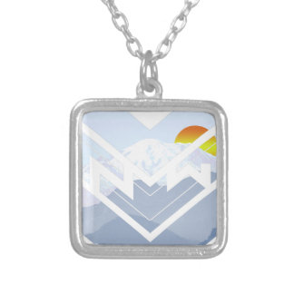 mt rainer silver plated necklace