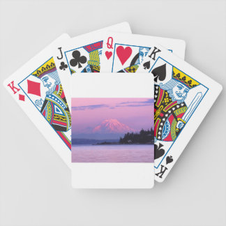 Mt. Rainier at Sunset, Washington State. Bicycle Playing Cards