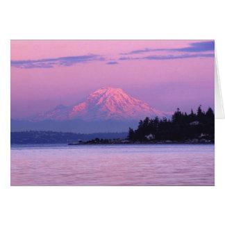 Mt. Rainier at Sunset, Washington State. Card