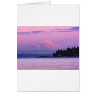 Mt. Rainier at Sunset, Washington State. Card