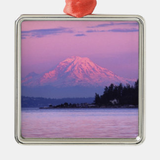 Mt. Rainier at Sunset, Washington State. Metal Ornament
