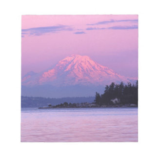 Mt. Rainier at Sunset, Washington State. Notepad