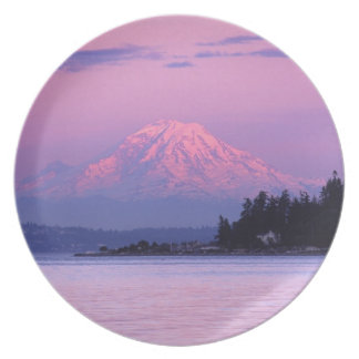 Mt. Rainier at Sunset, Washington State. Plate