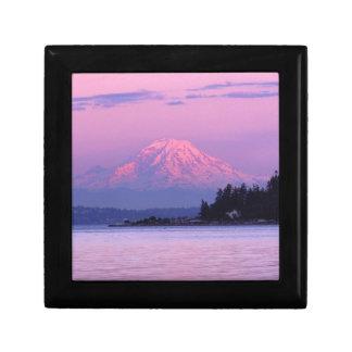 Mt. Rainier at Sunset, Washington State. Trinket Box