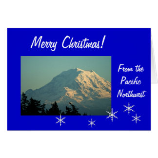 Mt. Rainier Christmas: Go Tell It! Card