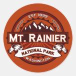 Mt. Rainier Crimson Classic Round Sticker