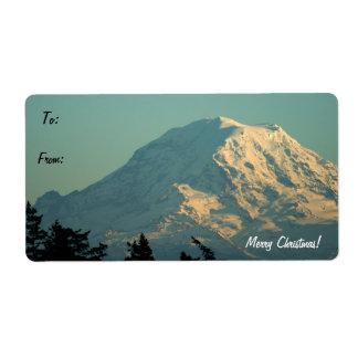 Mt. Rainier Gift Tag Label