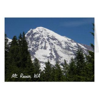 Mt Rainier Paridise Blank Card